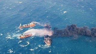 Oil Tanker Sinks Off China's Coast After Burning For Over A Week - Video