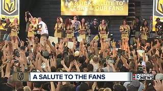 Vegas Golden Knights hold event to thank fans in downtown Las Vegas