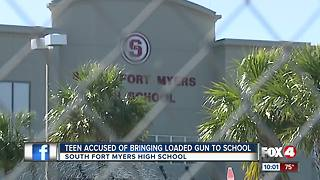 Student brings gun to school - Video