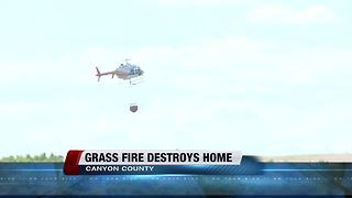 Grass fire destroys home, outbuildings, vehicles in Canyon County - Video