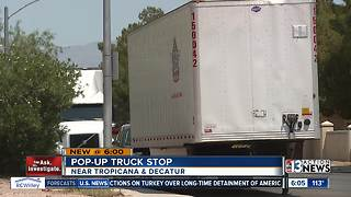 Loud truckers at 'pop-up truck stop' driving some Las Vegas residents crazy