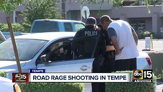 Near miss in Tempe road rage incident - Video