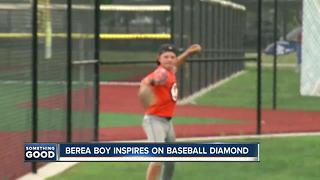 Berea boy inspires us all with his love of baseballv - Video