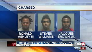 Three Arrested in Apartment Shooting - Video