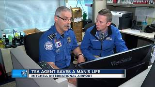 Local TSA Agent saves man having heart attack at airport