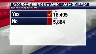 Eaton County voters renew 911 millage - Video