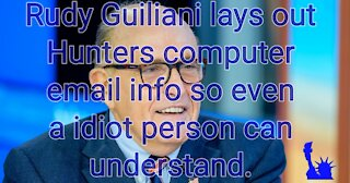 Rudy Guiliani speaks on Hunter Bidens discoverd laptop info.