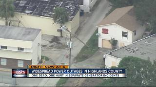 Widespread power outages in Highlands Co. - Video