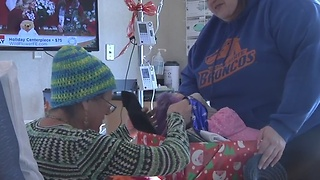Hat donations delivered to cancer patients