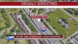 Victim dies after rush-hour shooting on 190 - Video