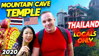 Thailand Travel, Isaan Mountain Cave Temple.. WAY UP!