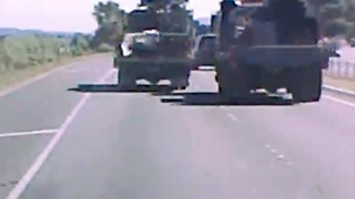 Speeding Truck Near Miss on Highway
