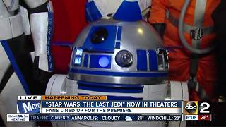 Star Wars finally opens in Maryland theaters - Video