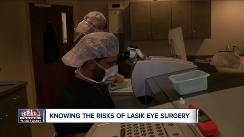 What are the risks of LASIK eye surgery?