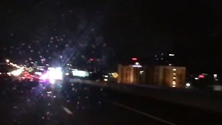 Multiple cars hit ladder on I-465 on Indy's north side - Video
