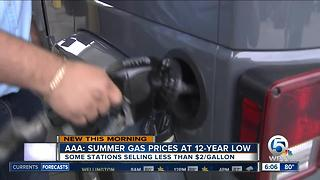 Florida gas prices start summer at 12-year low
