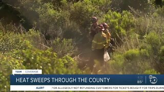 Heat sweeps through the county