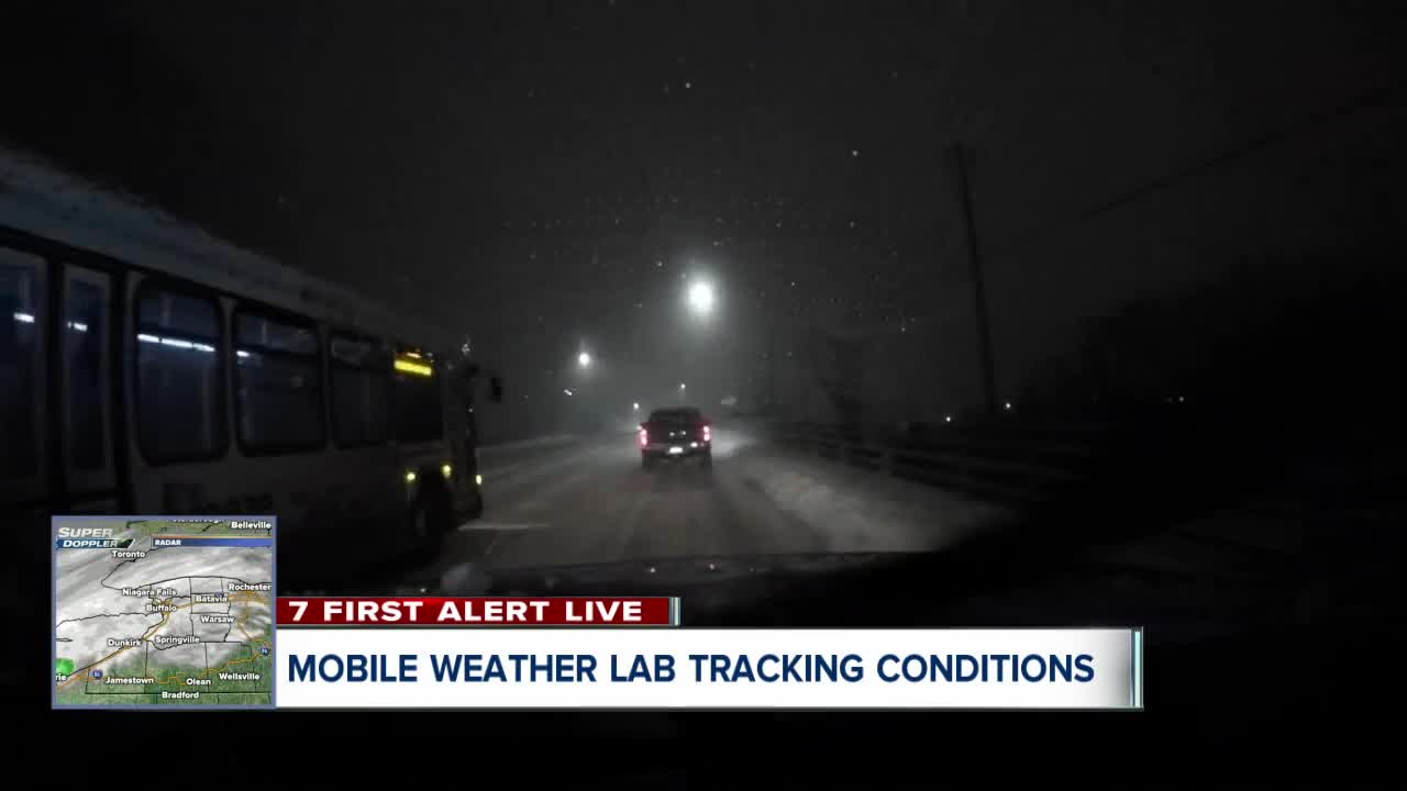 Slick conditions on the roads