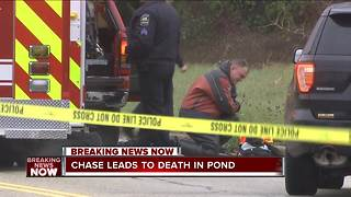 Man pulled from pond dies following police chase in Milwaukee County - Video