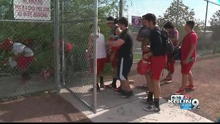 Tucson High practicing at Cherry Field - Video