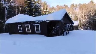 Northwoods scout dining hall collapses under snow