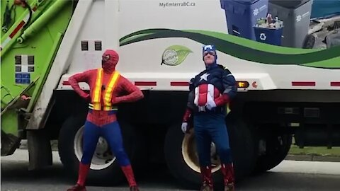 "Superhero ""grime"" fighters help clean up the streets"
