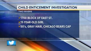 Police investigating child enticement report - Video