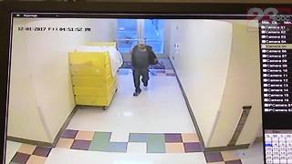 Raw surveillance video of Bakersfield Heart Hospital gunman shooting out windows - Video