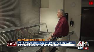 Christmas dinner hosted for senior citizens celebrates 40th anniversary - Video