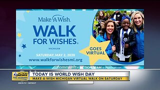 Make-a-Wish Michigan virtual walk on Saturday