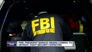 Fmr. President Barack Obama coming to Detroit, tight security expected