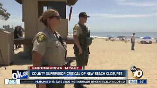 San Diego Supervisor critical of statewide beach closures