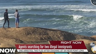 Agents searching for two illegal immigrants - Video