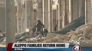 Aleppo families return home - Video
