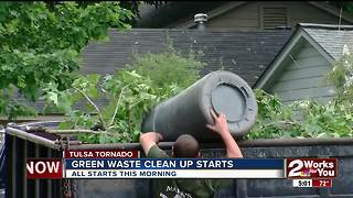 Green waste collection starts Monday after last week's tornado