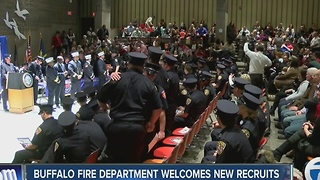 Buffalo Fire Department welcomes new recruits - Video