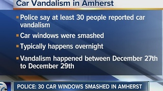 Amherst Police investigating slew of window smashing - Video