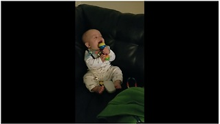 Baby's hysterical giggles are extremely contagious!