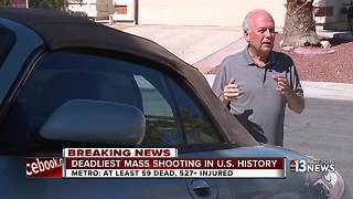 Retired officer helps bring Las Vegas shooting victim to safety - Video