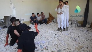 Iraqi Drama Students Perform Play in Damaged Building of Fine Arts in Mosul - Video
