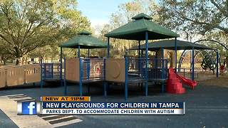 City of Tampa improves parks to benefit children with autism - Video