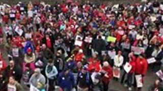 Educators Rally in Snowy Frankfort to Protest Pension Reform