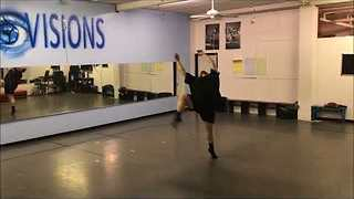 Unlikely Dancer Performs With Passion in Studio - Video