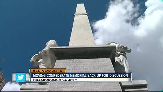 Removal of Confederate Memorial to be discussed again - Video