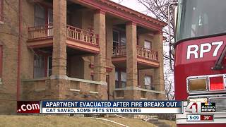 At least four people escape Linwood apartment fire - Video