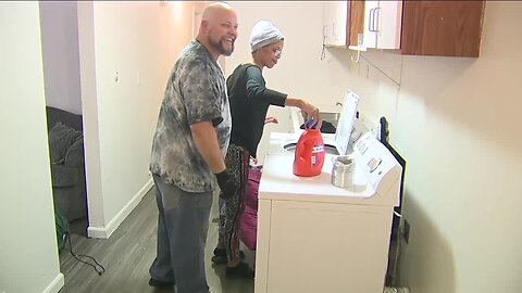 Washing machine donated to Colorado veteran who has been doing laundry from basement sink