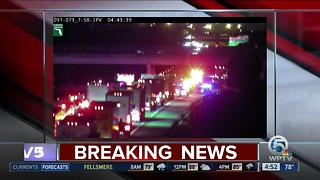 Florida Turnpike SB lanes blocked at Sawgrass Expressway - Video