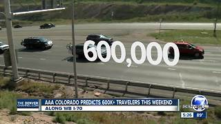 More than 600K Colorado drivers expected on roads Labor Day weekend