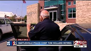 Bartlesville Police Chief Tom Holland retires - Video