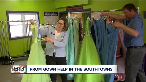 Prom gown help in the Southtowns
